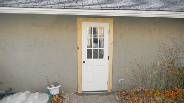 Gallery exterior door installation for Entry door installation